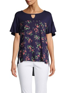 Democracy Floral Keyhole T-Shirt