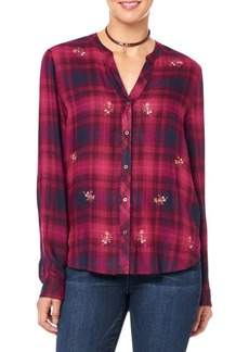 Democracy Floral Plaid Blouse