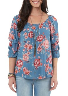 Democracy Floral Tiered-Sleeve Top