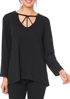Democracy Long-Sleeve Cut-Out Top