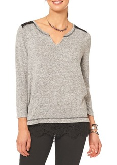 Democracy Long Sleeve Lace Inset Top