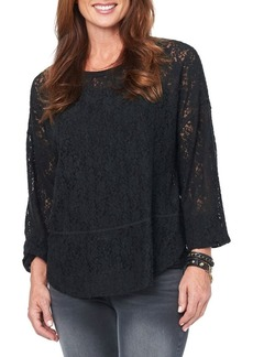 Democracy Long-Sleeve Lace Top