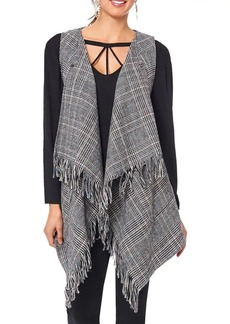 Democracy Open-Front Patterned Vest