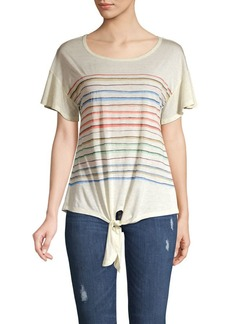 Democracy Rainbow Tie-Hem Tee