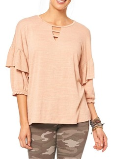 Democracy Ruffle Sleeve Top