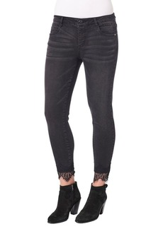 Democracy Scalloped Lace Jeans