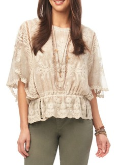 Democracy Scalloped Lace Top