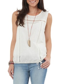 Democracy Sleeveless Embroidered Top