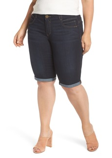 Democracy Stretch Denim Bermuda Shorts (Plus Size)