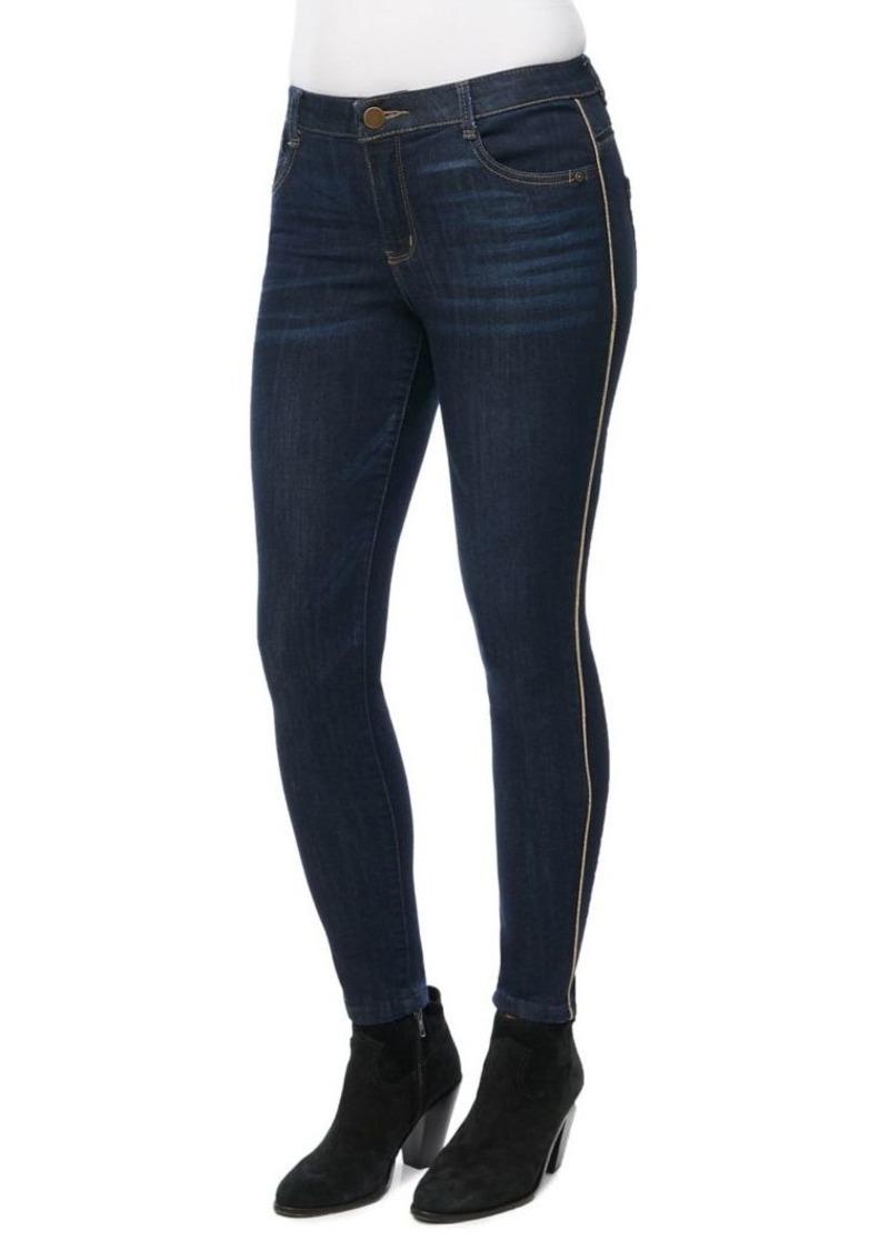 Democracy Stripe-Taped Skinny Jeans