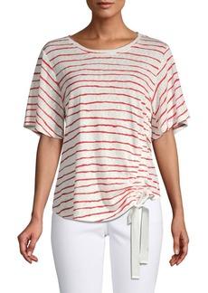 Democracy Striped Self-Tie T-Shirt