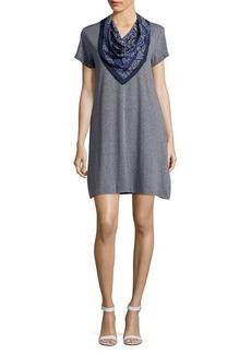 Democracy T-Shirt Dress with Handkerchief