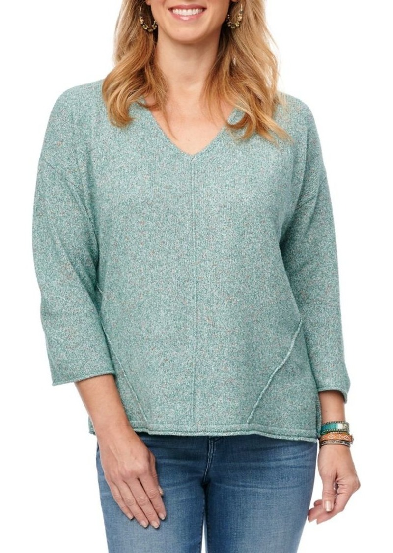 Democracy Textured Cotton-Blend Sweater