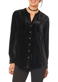 Democracy Velvet Button Front Shirt