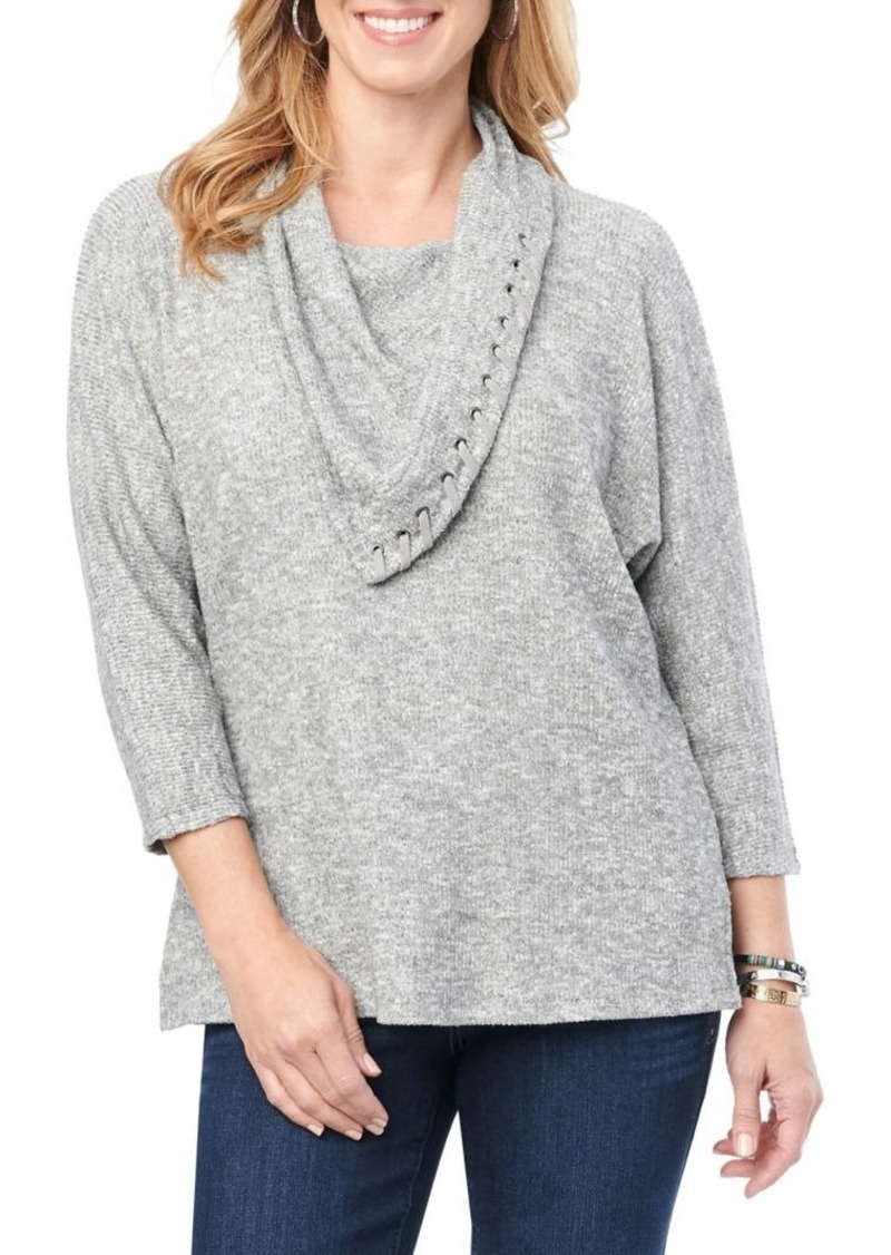 Democracy Whipstitch Knit Top
