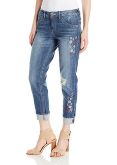 """Democracy Women's 25""""(30 Uncuffed)/13"""" Geo Embroidered Pant"""