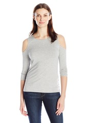 Democracy Women's 3/4 Sleeve Stripe Top  S