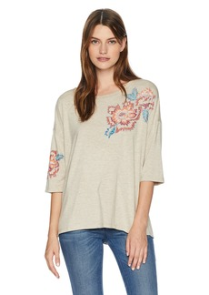 Democracy Women's 3/4 SLV Scoop Neck Screen TEE  XS