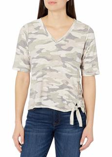 Democracy Women's Camo Tshirt with Side Tie  M