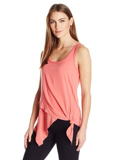 Democracy Women's Double Layered Asymmetric Hem Tank  M