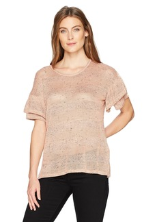 Democracy Women's Double Ruffle S/s Tee  XS