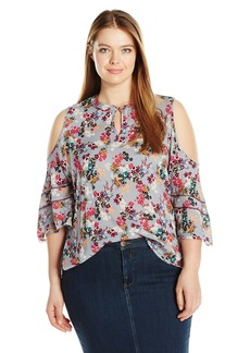 Democracy Women's Elbow Length Cld Shldr SLV Top  M