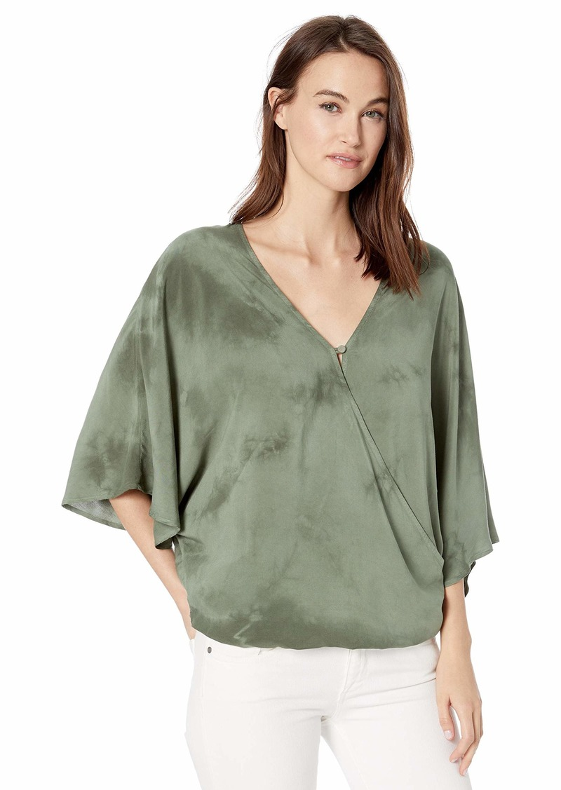 Democracy Women's Elbow Sleeve Surplus Kimono Top  XL