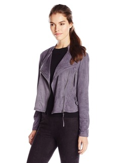 Democracy Women's Faux Suede Moto Jacket