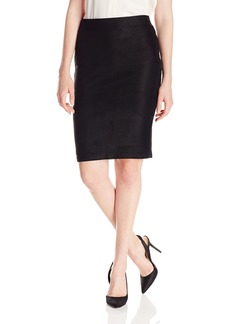 Democracy Women's Faux Suede Perforated Skirt