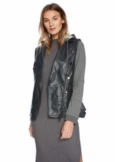 Democracy Women's Hooded Moto Jacket  XL