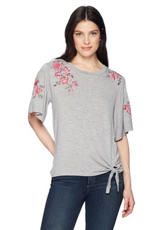 Democracy Women's Knot Front TEE  L