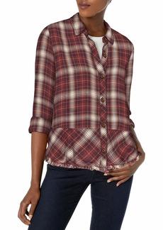 Democracy Women's Long Sleeve Button Up Shirt  S