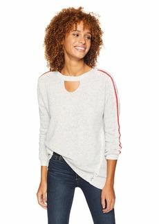 Democracy Women's Long Sleeve Crochet Detail Sweatshirt  M
