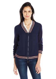 Democracy Women's L/s Blouson Woven Spliced Bomber Jacket  XS