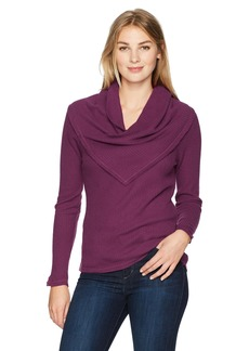 Democracy Women's L/s Cowl Neckline Top  S