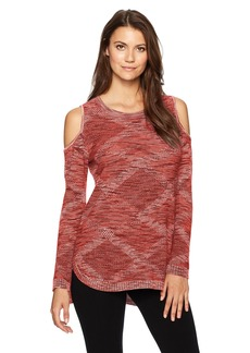 Democracy Women's L/s High Low Sweater with Cold Shoulder  M