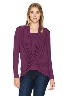 Democracy Women's L/s Sweater 2fer  XL