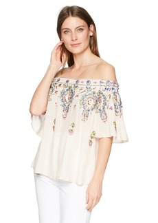 Democracy Women's Off The Shoulder Emb Top  S
