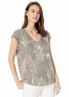 Democracy Women's Palm Print Short Sleeve Tee