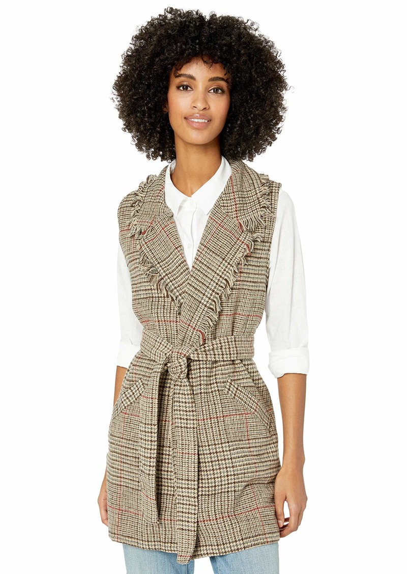 Democracy Women's Plaid Vest  L
