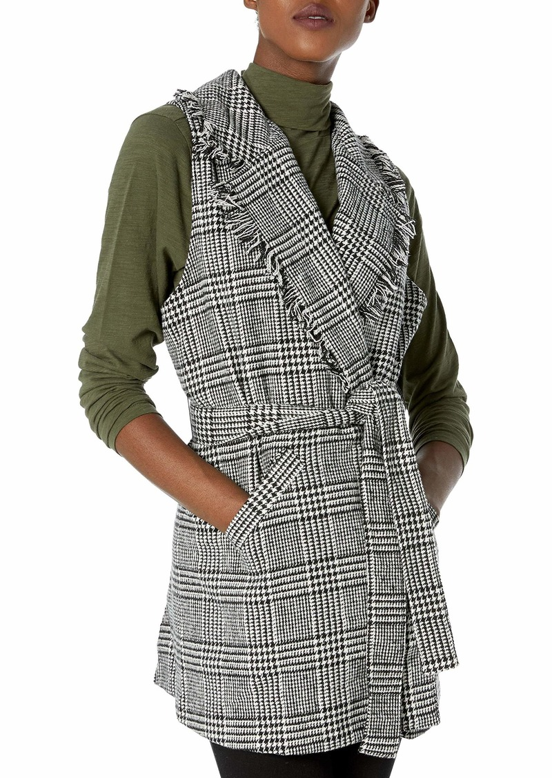 Democracy Women's Plaid Vest  M