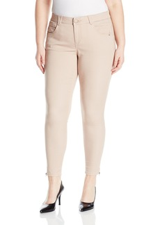 "Democracy Women's Plus Size 27/25/12"" Ab Solution Micro Zip Legging"
