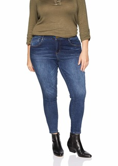 "Democracy Women's Plus Size 28"" High Rise Ab Solution Jegging  20W"