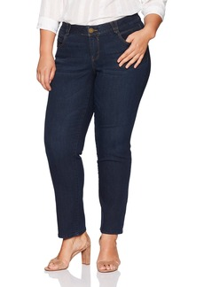 Democracy Women's Plus Size Ab Solution Straight Leg Jean  18W