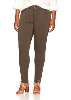 Democracy Women's Plus Size Ab Solution Colored Booty Lift Jegging  W