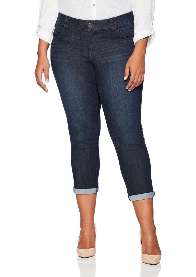 Democracy Women's Plus Size Ab Solution Cuffed Crop Jean