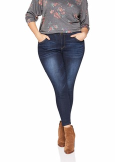 Democracy Women's Plus Size Ab Solution High Rise Ankle Jean  W