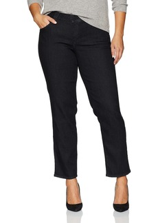 Democracy Women's Plus Size Ab Solution Straight Leg Jean