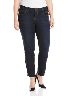 "Democracy Women's Plus-Size ""Ab""solution Booty Lift Jegging Indigo 24"
