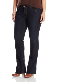 """Democracy Women's Plus-Size """"Ab""""Solution Itty Bitty Boot Jeans  24"""
